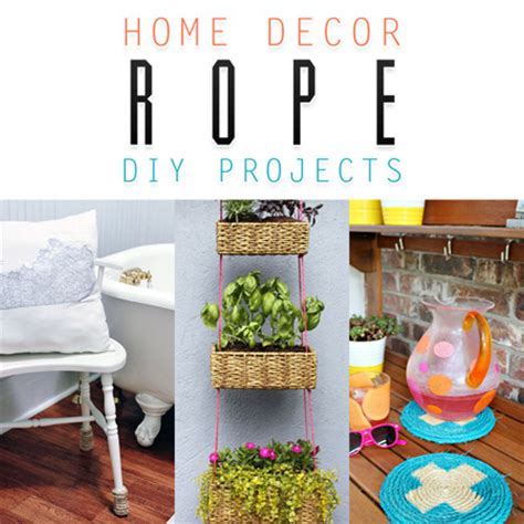 easy diy home decor home decor rope diy projects the cottage market