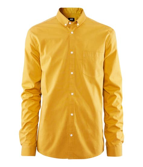 how to get mustard out of clothes lyst h m shirt in yellow for men