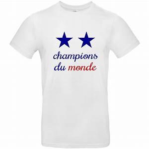T Shirt Champion Homme : tee shirt france champions du monde 2 etoiles ~ Carolinahurricanesstore.com Idées de Décoration