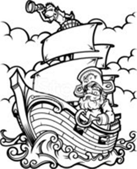 Barco Pirata Negro by Barco Pirata Blanco Y Negro Vectores En Stock Clipart Me