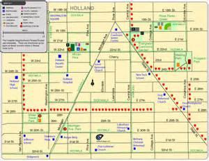 Downtown Holland Michigan Map