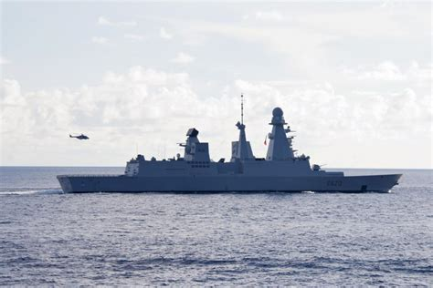 DVIDS - Images - French Navy ships sail in formation with ...