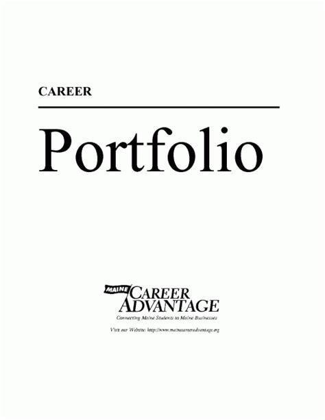 work portfolio template pdf ebook career portfolio