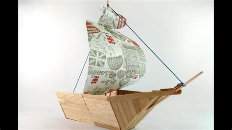 How To Make A Boat Using Craft Sticks by How To Make Boat Using Popsicle Sticks Youtube