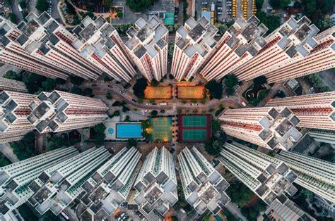 schitterend hong kong van boven gefotografeerd