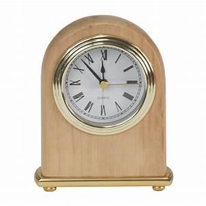 Alder, Arch, Engraved, Desk, Clock