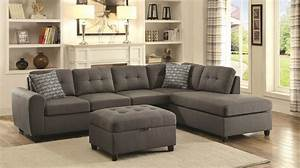 Stonenesse Grey Fabric Sectional Sofa Steal A Sofa