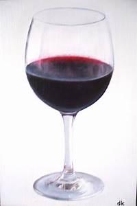 Verre A Vin : un verre de vin rouge page 6 diana k peintres artistes ~ Teatrodelosmanantiales.com Idées de Décoration