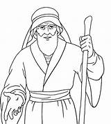 Moses Coloring Printable sketch template