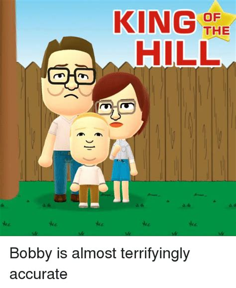 Bobby Hill Meme - king of the hill bobby is almost terrifyingly accurate king of the hill meme on sizzle