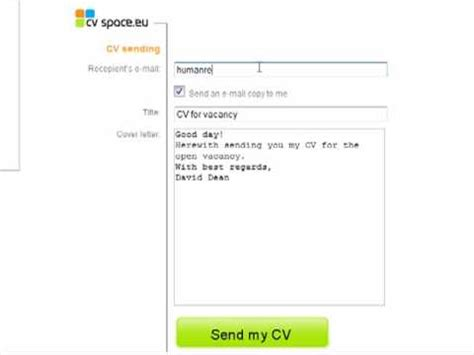 sending pdf cv to employers creating cv with