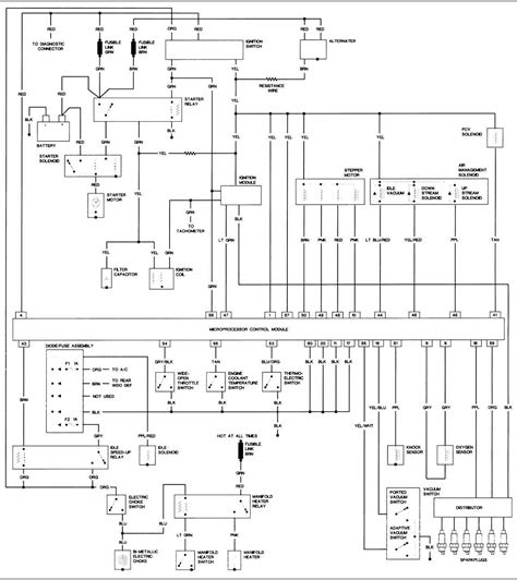 2000 Jeep Wrangler Wiring Harnes Diagram by 1988 Jeep Wrangler 4 2l Engine Large Freeautomechanic