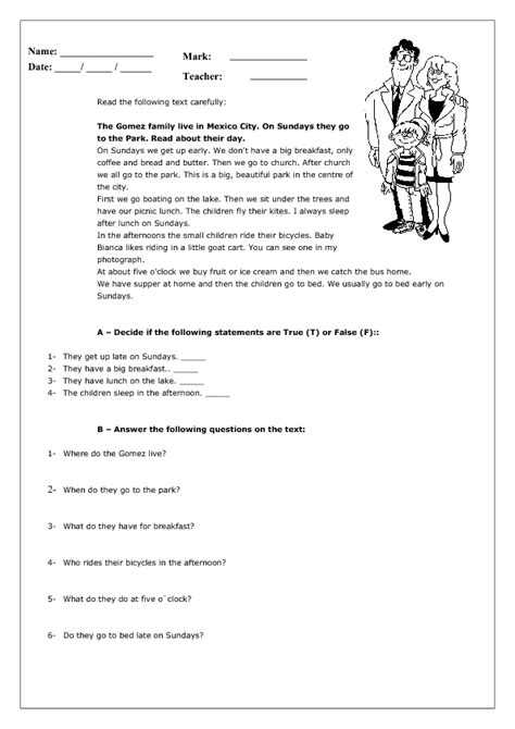 daily routines  present simple worksheet