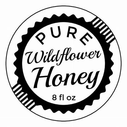 Label Honey Bottle Stamp Jar Templates Labels