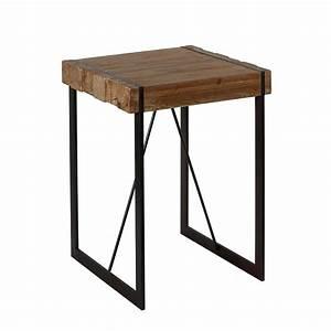 Table Haute Bois : le style industriel de la table haute fabrik en bois brut ~ Melissatoandfro.com Idées de Décoration