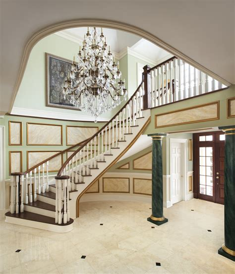 gorgeous foyer chandeliers trend new york traditional staircase inspiration with banister