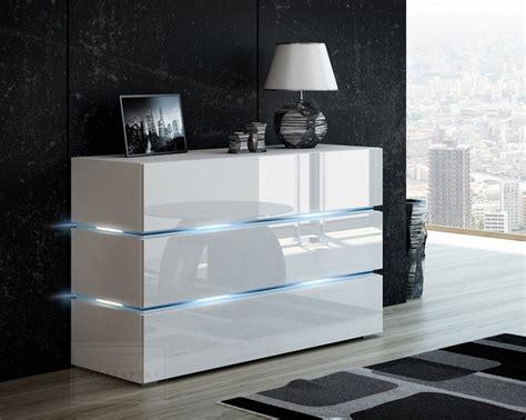 Moderne Kommoden Hochglanz by Kaufexpert Kommode Shine Sideboard 120 Cm Wei 223 Hochglanz