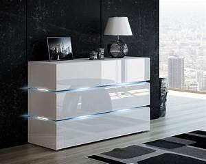 Moderne Tv Möbel : kaufexpert kommode shine sideboard 120 cm wei hochglanz ~ Michelbontemps.com Haus und Dekorationen