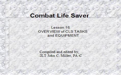 overview  cls tasks  equipment armystudyguidecom