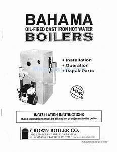 Crown Boiler Bahama Installation Instructions Manual Pdf