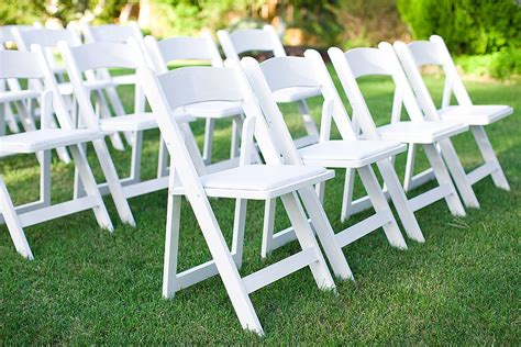 White Resin Folding Garden Chair Rental In Milwaukee And