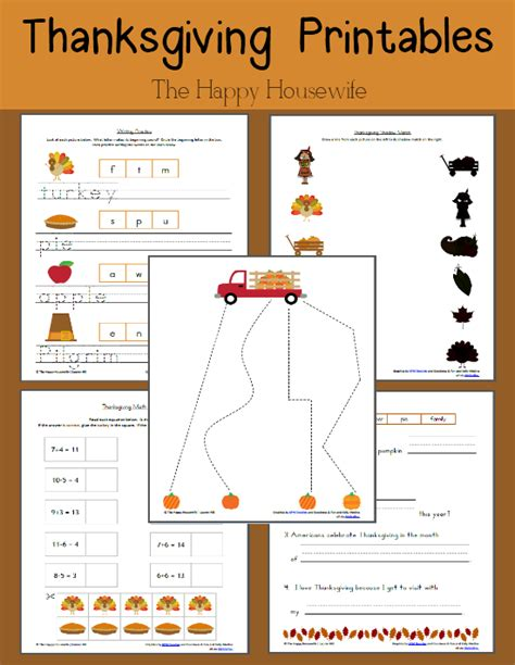 thanksgiving worksheets free printables the happy