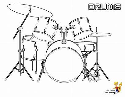 Coloring Pages Drum Drums Musical Colouring Boys