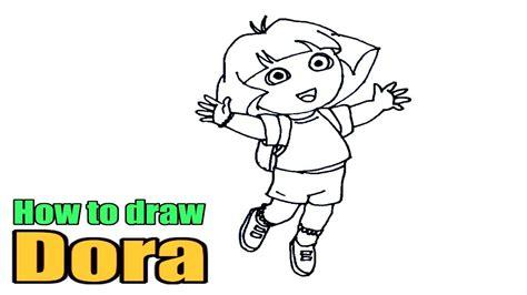 How To Draw Dora The Explorer Dora Drawing Images Step