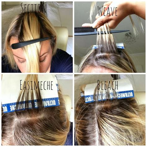 Coloring Roots At Home by How To Highlight Your Own Hair Home Highlighting Home
