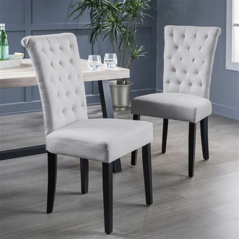 shop venetian tufted dining chairs set