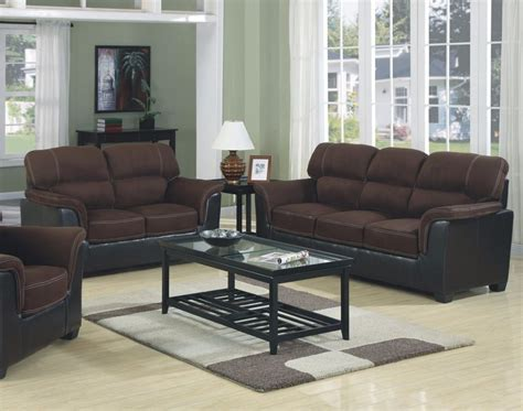 photos of living rooms with two sofas brand new microfiber two tone sofa loveseat 2pc sofa set