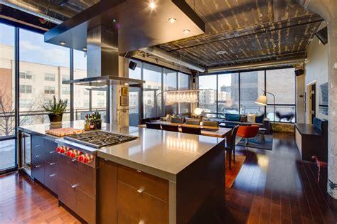 kitchen loft design ideas dwelling designs warehouse district loft industrial 5389