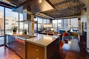 Dwelling, Designs, Warehouse, District, Loft, -, Industrial, -, Kitchen, -, Minneapolis