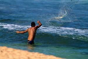 Man Throwing A Fishing Net In Hawaii Editorial Image ...