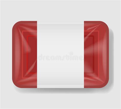 Foil pack template ready for your design. Plastic Tray Container With Cellophane Cover. Mockup ...