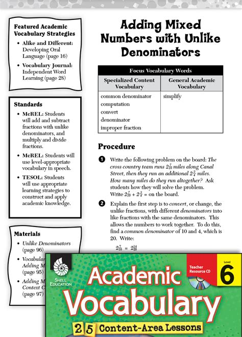 adding mixed numbers   denominators academic
