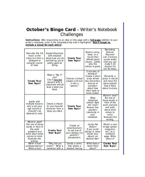 word bingo template   word documents