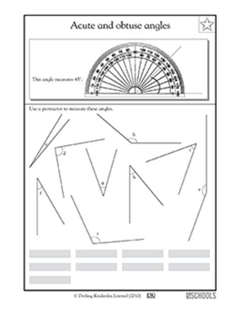 4th grade math worksheets using a protractor greatschools
