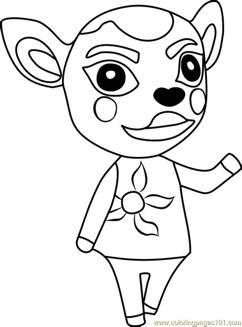deirdre animal crossing coloring page  animal crossing coloring pages coloringpagescom