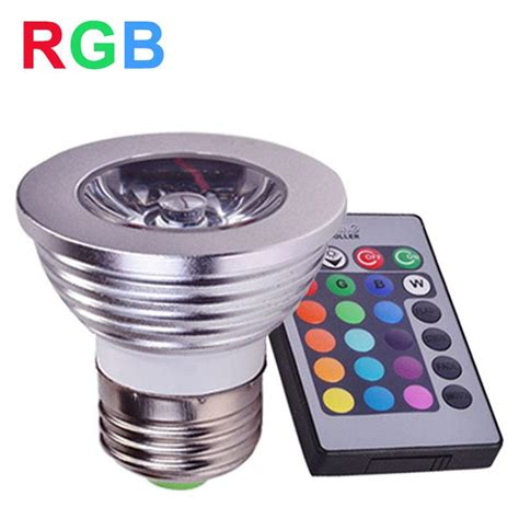 e27 rgb led spotlight 4w led l 85 265v led rgb light