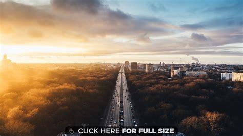 Sunset At Tiergarten Berlin 4k Wallpaper