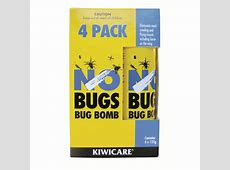 Kiwicare NO Bugs Bug Bomb 4pk Bunnings Warehouse