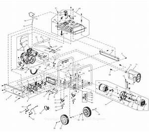 Generac 0065150  Gp6500e  Parts Diagram For Full Assembly