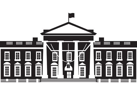 White House Clip The White House Vector Free Vector At Vecteezy