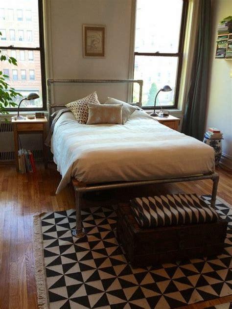 chambre indus le lit style industriel un meuble moderne pour vous