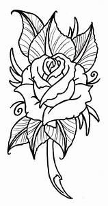 Neo Traditional Rose Outline - ClipArt Best - ClipArt Best