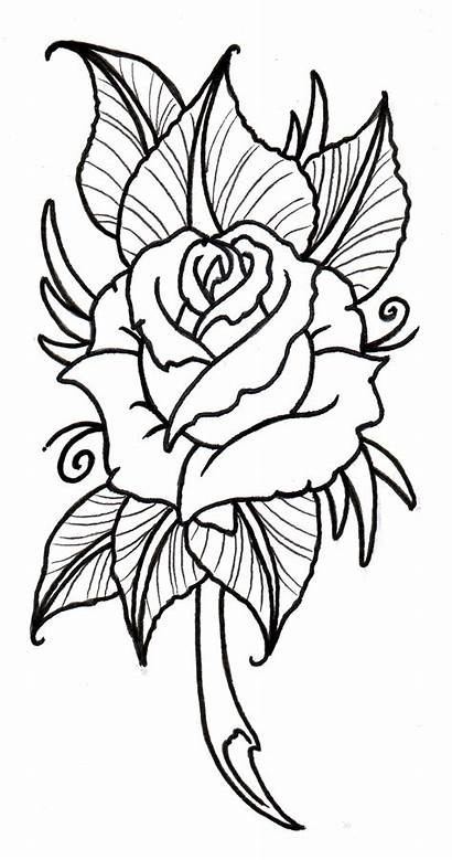 Outline Rose Traditional Neo Clipart Clipartbest Drawing