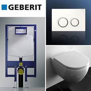 Wc Suspendu Autoportant : pack complet wc geberit ~ Edinachiropracticcenter.com Idées de Décoration