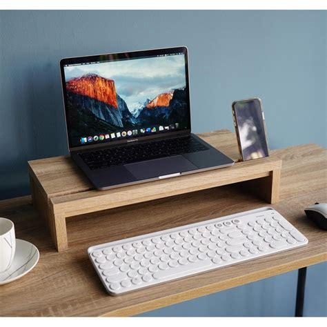 ชั้นวางจอคอมพิวเตอร์ ชั้นวางจอคอม แท่นวางจอคอมพิวเตอร์ กว้าง50ซม สีโซลิดโอ๊ค | Shopee Thailand