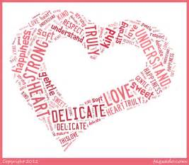 Word Art with Heart Shape